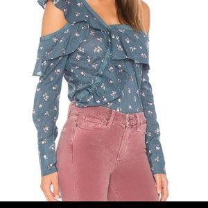 🆕 PAIGE floral assymetrical top